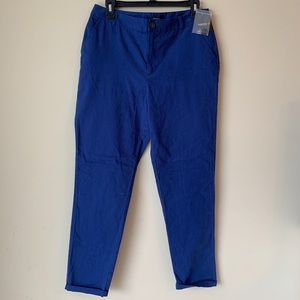 New Forever 21 Womens Ankle Pants Sz L Blue